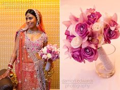GORGEOUS lengha and GORGEOUS bouquet