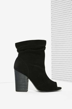 Leila Suede Bootie - Black | Shop Shoes at Nasty Gal!