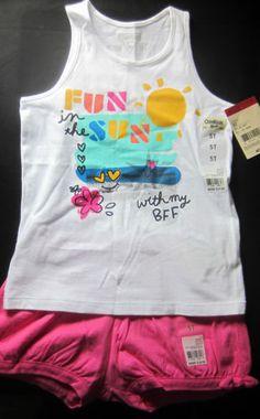 7e2787abe55d3 Kids Clothing Short Set 5T OshKosh Bubble Knit Shorts White Sleeveless Tank  Top Knit Shorts
