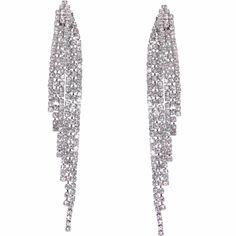 Humble Chic Simulated Diamond Earrings - Darling Waterfall Tassel CZ Statement Chandelier Studs for Women Bridal Earrings, Flower Earrings, Gemstone Earrings, Diamond Earrings, Cross Earrings, Women's Earrings, Fashion Earrings, Pearl Necklace Set, Wedding Jewelry Sets