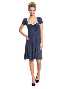 Vive Maria My Navy Dress Kleid marine Allover-Print Damen Kleider