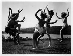 Children dancing by the lake, Barbara Morgan who is know for her dance photos, 1940      Children Dancing by the Lake, 1940 byBarbara Morgan
