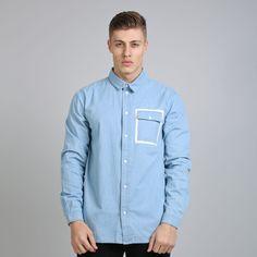 Hard Graft Shirt - Light Blue Denim  // Click the link to buy or for more info - https://www.king-apparel.com/new-collection/shirts/hard-graft-shirt-light-blue-denim.html