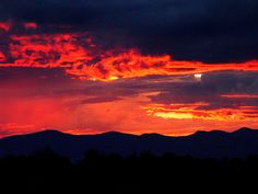 Red Sunset Over Santa Fe, New Mexico