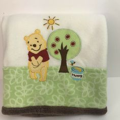 Pre-owned: An item that has been used or worn previously. See the seller's listing for full details and description of any imperfections. Organic Baby Clothes, Unisex Baby Clothes, Winnie The Pooh Blanket, Newborn Tieback, Boho Baby, Newborn Gifts, Green Leaves, Baby Shower Gifts, Disney