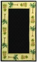 Chelsea Collection Hand Hooked Palm Tree Wool Area Rug