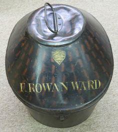 Antique Hawkes Co Ltd 1 Savile Row London Mens Metal Hat Box   eBay