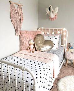 the best in girls bedroom design and decor inspiration kidsdecoratingideas girlbedroom girlsbedroom girlsbedroominspo # Big Girl Bedrooms, Little Girl Rooms, Girls Bedroom, Girls Twin Bedding, Twin Bed For Girls, Target Kids Bedding, Girls Daybed, Modern Girls Rooms, Bedroom Beach