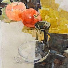 Учебное задание: натюрморт с клеймовой композицией. автор -Татьяна Гальперина. Одна из работ, выполненных тремя разными авторами. Такие небольшие локальные натюрморты всегда очень выгодно смотрятся, НО только в том случае, если найдено композиционное решение. #акварель #писатьакварели #art #цвет #акварель #color #watercolor #арт #учитьсярисовать #учитьсярисоватьникогданепоздно #artwork #painting #paintings #painting #paintingartgallery #paintingclass #paintingclass #школарисованиямосква