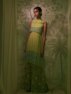 I am inspired by this Rodarte dress. Lemon and Lime...Kinda reminds me of a nightgown Dorris Day would wear