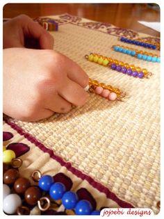 bead pyramid #montessori #math Actual link to post http://www.jojoebi-designs.com/2011/02/bead-pyramid.html