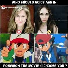 We think it should be classic ash #VeronicaTaylor 😱 or would you rather #SarahNatochenny?  #ashketchum #pokemon #movie