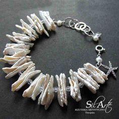 Madame Aliora ślubna bransoleta z pereł