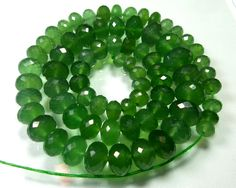 191 Carat Natural Top Grade rare green serpentine micro faceted rondelle beads 5.6-10.5 mm 41.5 cm strand sbd-1 by topgradegems on Etsy