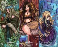 Fairy Tail: Cana Alberona , Evergreen , Mavis Vermillion