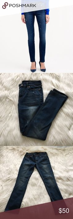 "🆕 LISTING J. Crew Reid Jeans These Reid jeans from JCrew have cute distressing details. 92% cotton, 6% polyester, 2% elastane. Size 29 Petite. Measures 15.5"" across front of waist and 39.5"" in length. Color is best represented in the second, third and forth pictures. Great condition. Never worn! Ask any questions! Offers welcome! J. Crew Jeans"
