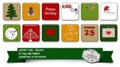 Square Tags Holiday by Debora's Creations (CU)