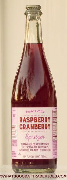 Trader Joe's Raspberry Cranberry Spritzer (What's Good at Trader Joe's? Beverages, Drinks, Cranberry Sauce, Trader Joe's, Cranberries, Raspberry, Food Porn, Brunch, Thanksgiving