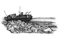 The Plassey, Inis Oirr Ink Drawings, Limited Edition Prints, Fine Art Prints, Antiques, Artist, Antiquities, Art Prints, Artists, Antique
