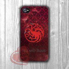 Game Of Thrones Three Heads Dragon -edd for iPhone 6S case, iPhone 5s case, iPhone 6 case, iPhone 4S, Samsung S6 Edge