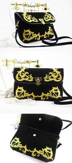 Women's clutch bag with embroidery.Suede bag with by FediyS