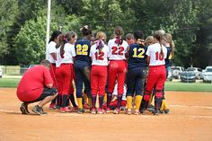Team, Softball, Players, Gathering