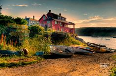 Monhegan Island Maine.  Possibly the most beautiful place I've been to.  Image by Baldini and Vandersluys Photographers Niagara Falls Ontario http://bvphotog.com