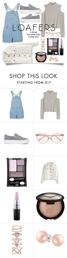 """""""loafers: fall shoe trend"""" by thelifeofthesunflowerqueen ❤ liked on Polyvore featuring H&M, Prism, Maybelline, WithChic, MAC Cosmetics, Becca, Accessorize and Bling Jewelry"""