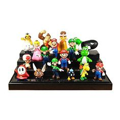 "Generic Brothers Figures Set (18 Piece). 18 pcs Super Mario brothers figures set. They are good ornament. Bedroom, car, drawing room and so on. Size: about 1.2 ""- 2.8"", material: PVC. Recommended: 3 + years old children."