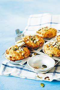Kauramuffinit siemenillä   Reseptit   Valintatalo Baked Goods, French Toast, Tasty, Breakfast, Food, Morning Coffee, Essen, Meals, Yemek