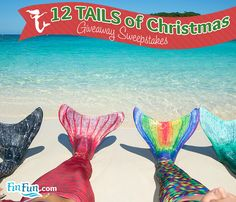 Fin Fun's 12 Tails of Christmas Giveaway Sweepstakes Fin Fun Mermaid, Mermaid Tails, Little Mermaid Parties, The Little Mermaid, Christmas Giveaways, Gallery, Cute, Blog, Pool Floats