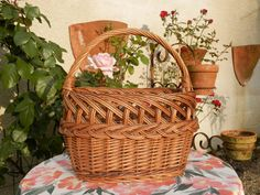 Vintage French Basket. French Market by AngelFrenchAntiques