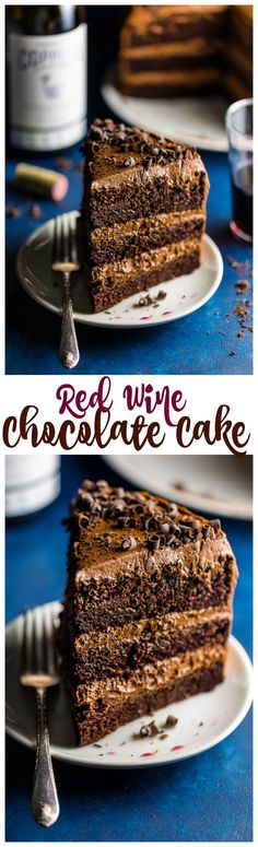 This Red Wine Chocolate Cake is such a decadent treat! And it's perfect for special occasions! If you love red wine and dark chocolate, you … Red Wine Chocolate Cake, Chocolate Cake From Scratch, Baking Chocolate, Chocolate Desserts, Cupcakes, Cupcake Cakes, Cake Pops, Cake Recipes, Dessert Recipes