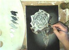 Желтые розы Картина маслом на DVD Демонстрация