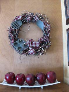 Beau Kitchen Wreath. Wreaths CraftsWreath Ideas