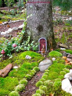 Fairy gardens: Your DIY tips...Anita Earnest's fairy door in a tree