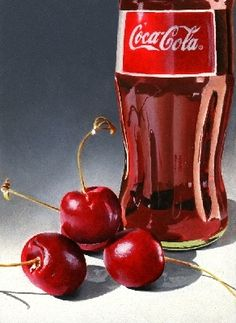 Cherry Coke - Oil, painting by artist Jacqueline Gnott