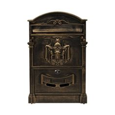 Doitb Retro Vintage European Style Outside Aluminum Wall Mount Post Box Mailbox Letterbox Outdoor Mailboxes Bronze ** Check this awesome product by going to the link at the image. Antique Mailbox, Vintage Mailbox, Wall Mount Mailbox, Mounted Mailbox, Jewelry Store Design, Architectural Mailboxes, European Fashion, European Style, Post Box