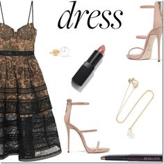 Perfect Party Dress by danielle-487 on Polyvore featuring moda, self-portrait, Giuseppe Zanotti, Sophie Bille Brahe and partydress