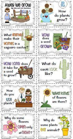 Sailing Through 1st Grade: Freebies-plants unit posters