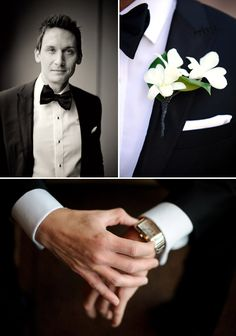 Tuxedo and bowtie - Grooms details - Wedding Photos by Nakai Photography http://www.nakaiphotography.com