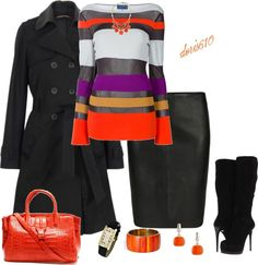 """A Hint of Orange in the Winter"" by doris610 on Polyvore"