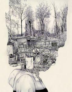 Residente en Michigan, Pat Perry es un ilustrador que se mueve entre la naturaleza, la vida urbana y la esfera surrealista con un toque de psicodelia.