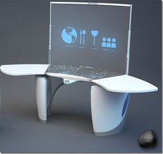 Kitchen of the future.  Team Synergy's Quism interactive cooking platform. (itechfuture.com)