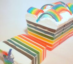 Glycerin and Goat's Milk 'Over the Rainbow' Goat's Milk Natural Soap on Etsy, $5.00