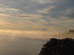 A foggy autumn morning.