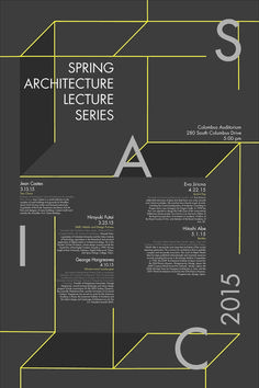 architecture poster // concept of 3D structures // 30 in x 20 in