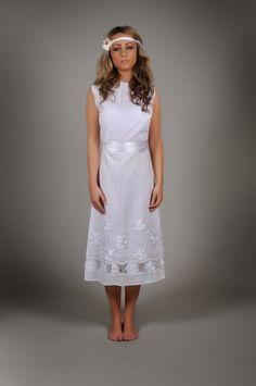 70er Brautkleid LILI Hochzeitskleid Hippie Look...