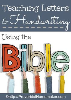 Teaching Letters and Handwriting Using the Bible and Write Through the Bible Junior Sight Words, Learn Handwriting, Christian Homemaking, Alphabet, Teaching Letters, Tot School, Sunday School, Fun Learning, Early Learning