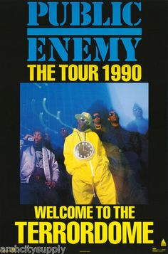 Public Enemy The Tour 1990 Poster